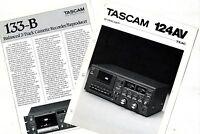 Tascam - 124av + 133-b Catalogos Originales Original Brochure -  - ebay.es