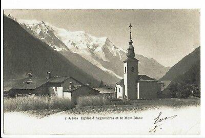 CPA-Carte postale-FRANCE - Argentières  Son Eglise 1904- S319