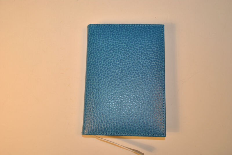Blue leather medium address book