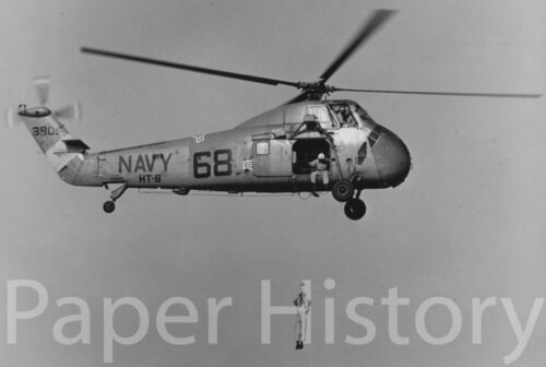 US Navy UH-34 Sea Horse Helicopter Military 8x10 Photo Rescue Training