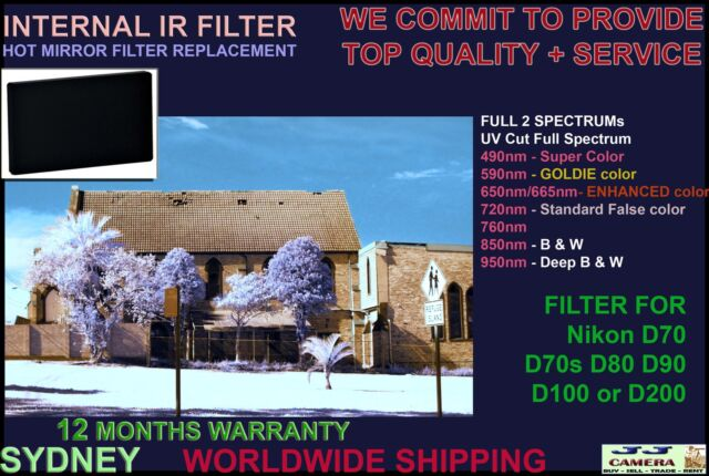 Nikon D1 D1h D1x D2x D2xs B&W 850nm Infrared IR filter hot mirror replacement