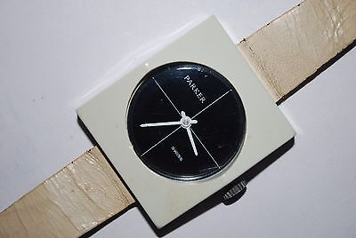Vintage PARKER 1970's Wristwatch Ladies Swiss Wind Up Original Mod Fashion Works