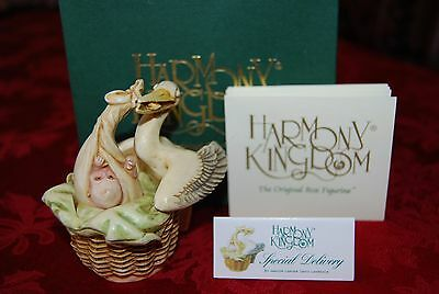 Harmony Kingdom Special Delivery Edition 1 Stork Newborn Baby Figurine TJST (Special Delivery Stork)