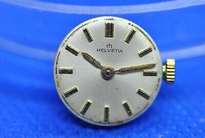 Original HELVETIA cal H 102 manual winding movement running & dial (1/5579)
