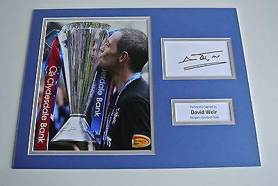 David Weir SIGNED autograph 16x12 photo display Glasgow Rangers Football & COA