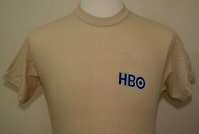 80s Tops, Shirts, T-shirts, Blouse   90s T-shirts VINTAGE HBO t-shirt tan medium 1980s or early 1990s TV pop culture media 50/50 $15.95 AT vintagedancer.com