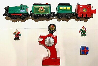 Fisher Price GeoTrax Christmas in Toytown RC Set light-up train and Remote Works