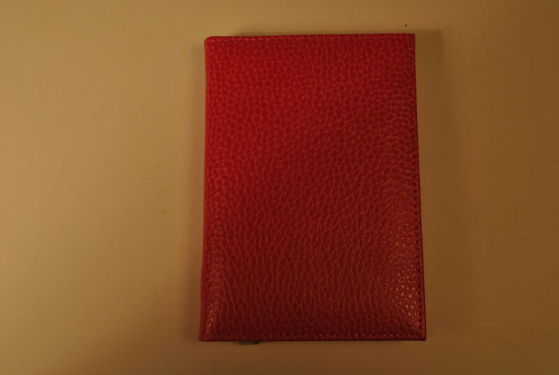 Pink leather medium address book