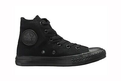 CONVERSE All Star Chuck Taylor Hi Top Black Mono Canvas Sneaker Girls Shoes](Girls Chuck Taylor)