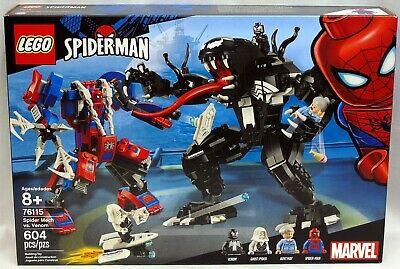 Lego 76115 Marvel Spider Mech Vs Venom 604 pcs NIB