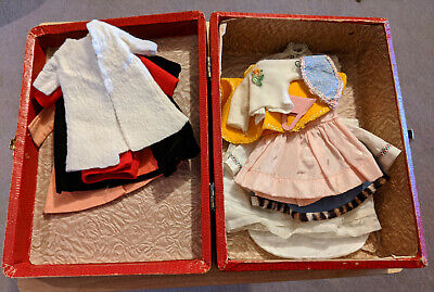 Vintage Suitcase filled with clothes to fit 10 to 12 Inch Fashion Dolls Alex