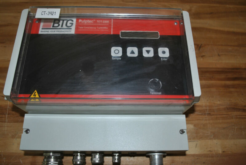 BTG PULPTEC TOTAL CONSISTENCY TRANSMITTER TCT-2300 USED TCT2300