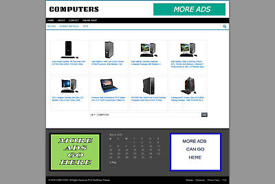 Computers Store Affiliate Website - New Domain - Blog Pages - Hosting