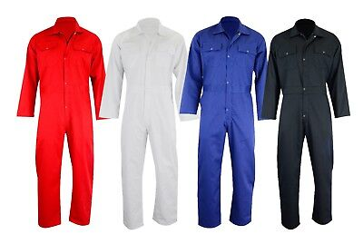 Mens Master Poly Cotton Coverall Overalls Painters Builder Farmer Workwear Suit
