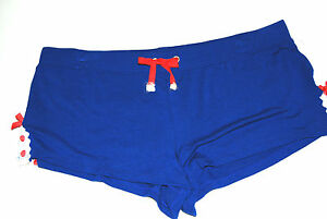 Juicy Couture Seaside royal blue knit sleep shorts Size L NWT