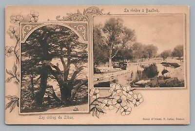 Usado, Cedars du Liban—Baalbek LEBANON Antique Art Nouveau Multiview—Turkish Pub UDB comprar usado  Enviando para Brazil