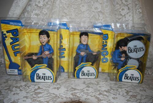 2004 McFarlane The BEATLES Cartoon SERIES JOHN PAUL RINGO Action Figures NIP!