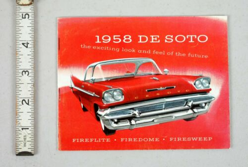 Vintage Sales Catalog Brochure 1958 De Soto Fireflite Firedome Firesweep