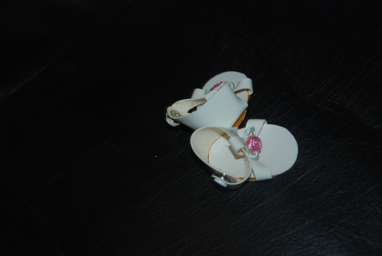 Lot of 3  Madame Alexander White Sandals for 12'' Baby Doll