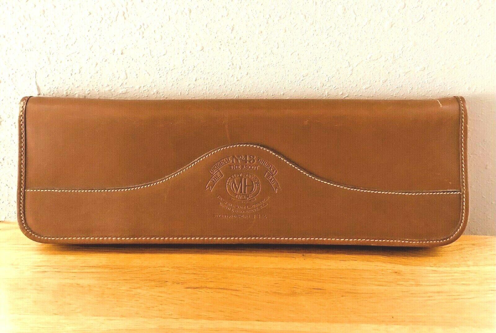 Original No 43 GHURKA English Tan Brown Leather Travel Tie Holder Zip Up Case - $110.49