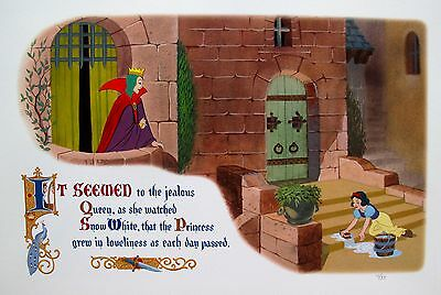 DISNEY SNOW WHITE AND THE EVIL QUEEN Ltd Edition Giclee Animation Concept Art