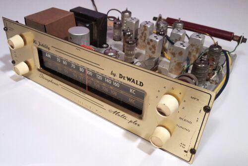 DeWALD TUBE TUNER R-1103 VINTAGE 1962 AM FM STEREO MPX