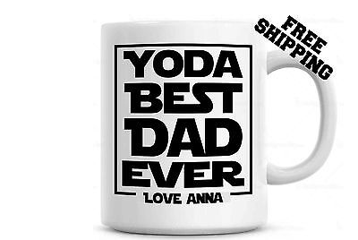 Yoda Best Dad Ever Coffee Mug - Personalized - Father's Day Gift - Gift For