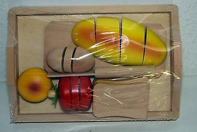 Schneide Brot aus Holz 8 tlg. Kaufladen Kinderküche NEU