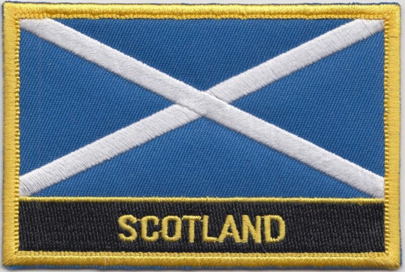 Scotland Flag Embroidered Patch Badge - Sew or Iron on
