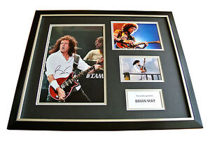 BRIAN-MAY-HAND-SIGNED-FRAMED-HUGE-PHOTO-DISPLAY-AUTOGRAPH-QUEEN-PROOF-COA