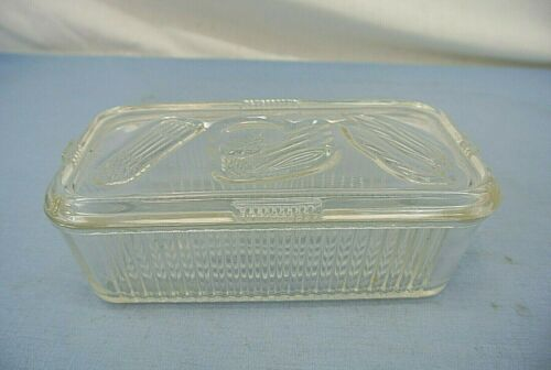 FEDERAL GLASS COVERED REFRIGERATOR CONTAINER