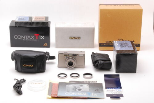 *UNUSED IN BOX SET* CONTAX TIX APS Point & Shoot Film Camera From Japan