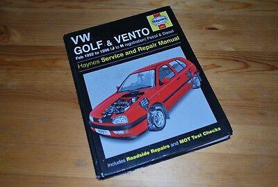 Haynes Workshop Manual Service VW Volkswagen Golf & Vento 92-96 Petrol+Diesel