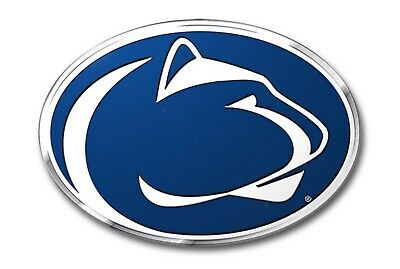 Penn State Nittany Lions Metal Raised Color Chrome Auto Emblem Decal University Penn State Colors