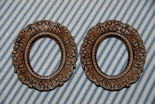 Vintage Handmade Ceramic Picture Frame -- Set of 2