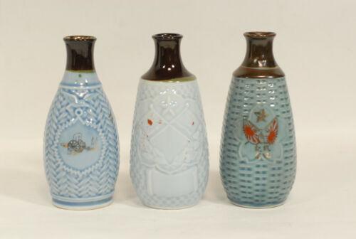 Set of 3 WW2 Japanese Army Military Commemorative Sake Bottle 1