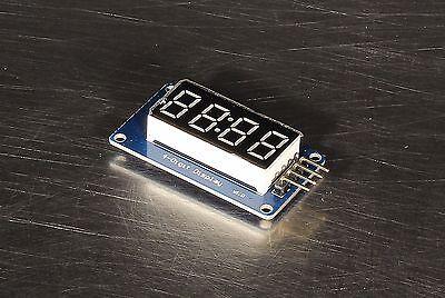 4-digit Digital Tube Led Display Module W Clock Tm1637 For Arduino Us