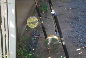 AVERY REELS, SURF RODS, ASSORTED FISHING GEAR.