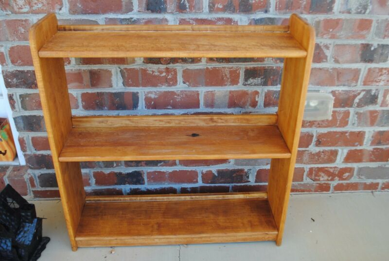 Rare Vintage Wood Bookshelf Book Shelf Display Case