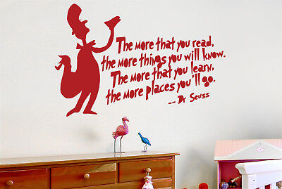 Dr Seuss More That You Read More Things You Will Know Wandtattoos Wandaufklebers