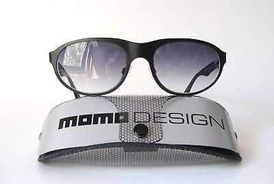 Momo Design Titanium 60-20 Large Spring Hinge 7011 Black Sunglasses Techno (Momo Sunglass)