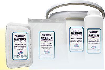 Feines Natron 1,5 kg Dose food grade Natriumbicarbonat  Backpulver