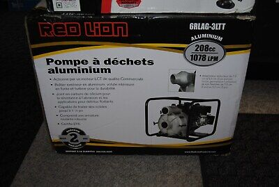 Brand New Red Lion 6rlag-2lst - 1078 Lpm 3semi-trash Water Pump Free Shipping