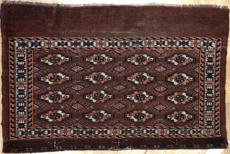 Tremendous Turkmen - 1900s Antique Yamout Rug - Tribal Tekke - 2.7 X 4 Ft.