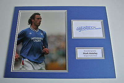 Mark Hateley SIGNED autograph 16x12 photo display Glasgow Rangers Football & COA