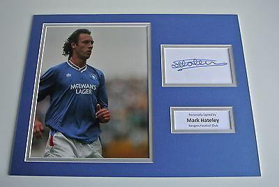 Mark Hateley SIGNED autograph 16x12 photo display Glasgow Rangers Football & COA