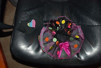 Neon Party Tutu Outfit with Heart for 18'' Dolls by American Fashion - Neon Outfits For Parties