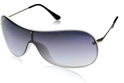RAY-BAN RB4411 Aviator Shield (White-Gold/Blue Gradient) (NEW IN CASE) $200 (Ray Ban Aviator White)