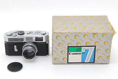 【EXC 】Canon 7 Rangefinder Camera + Serenar 50mm f1.9 Silver Lens from Japan