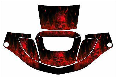 3m Speedglas 9000 9002 X Xf Sw Jig Welding Helmet Wrap Decal Sticker Skull Red